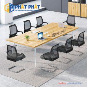 Bàn họp chân sắt - Mẫu thiết kê bàn họp chân sắt hiện đại cho văn phòng - 1